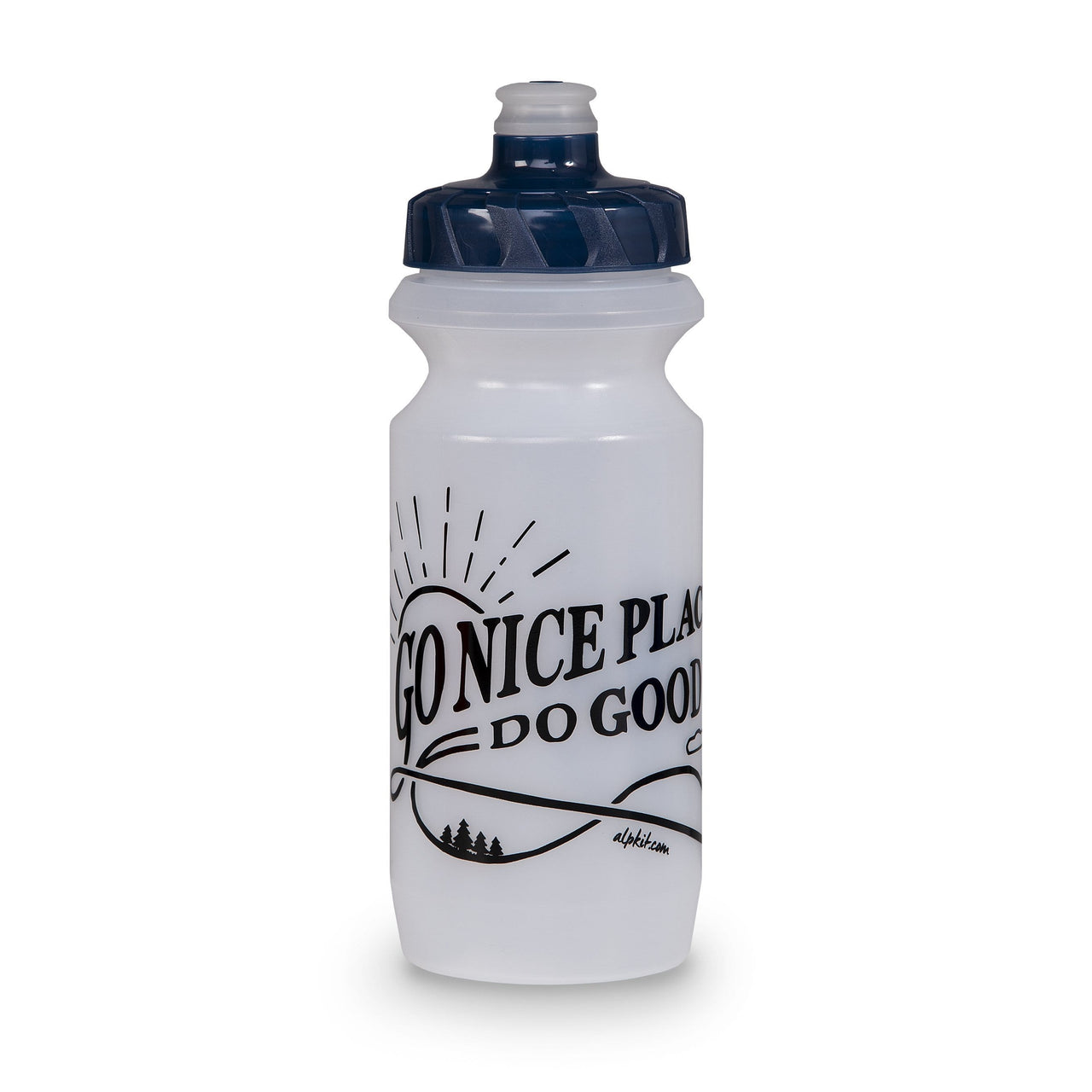 Go Nice Places Bottle / 600ml / Clear