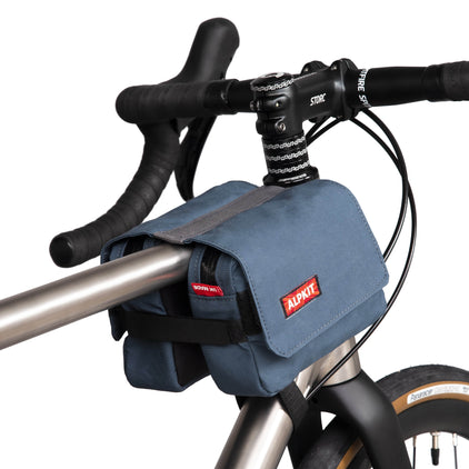 Alpkit goucho top tube bag in demin