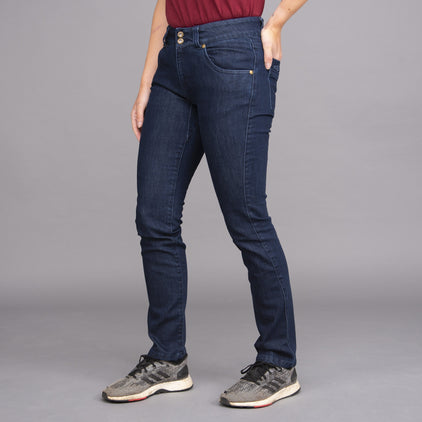 womens jeanius jeans dark wash