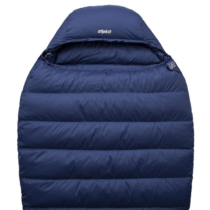 Pipedream 600 lightweight 4 season sleeping bag in blue
