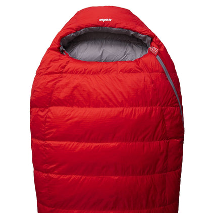 Skyehigh 500 3 season down sleeping bag in red