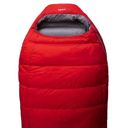Skyehigh 700 3 season down sleeping bag in red