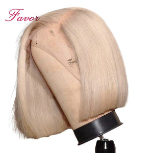 150% Density Lace Front Human Hair Wigs 613 Blonde