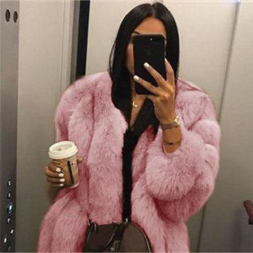 women fur fox coats winter gray 5XL fur coat fox  Warm Plush Teddy Coat Brand Fur Jacket Female Thicken Faux Fur femme Outwear