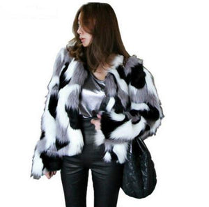 Mixed Color Womens Short Section Casual Winter And Autumn Jackets Plus Size Leisure Sexy Fake Fur Coats Faux Fur Clothes J2519