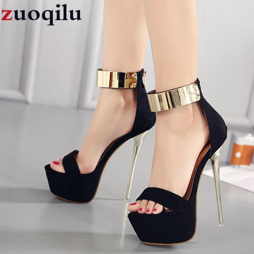 16CM high heels platform wedding party shoes women high heels ladies shoes sexy black high heels dress party pumps women shoes