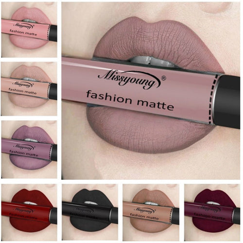 18 Color Make Up Liquid Lipstick Waterproof Mate Red Lip Long Lasting Ultra Matte Lip Gloss Black Blue Nude Lipstick