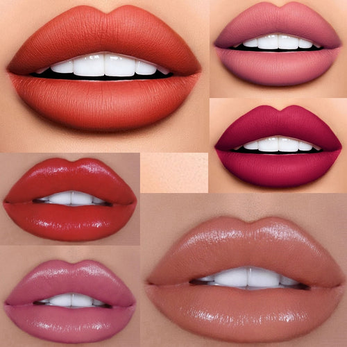 12 Colors Velvet Matte Lipstick Long-lasting Red Lips Makeup Nude Pink Lip Gloss Sexy Make Up Waterproof Mate Liquid Lipsticks