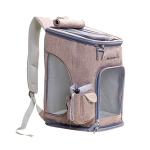 """The Comfy Cat Backpack"" with Mesh Windows & Side Pocket"