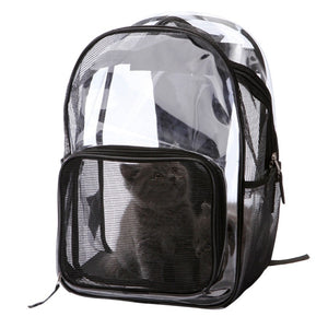 """The Rambler Cat "" Transparent Cat Backpack with Mesh Windows"
