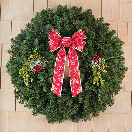 "28"" Mixed Evergreen Gift Wreath - Direct Delivery"