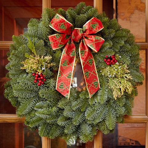 "22"" Mixed Evergreen Gift Wreath - Direct Delivery"