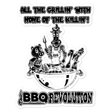 Load image into Gallery viewer, All the Grillin' None the Killin'! Sticker
