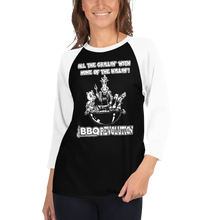 Load image into Gallery viewer, All the Grillin' None the Killin'! 3/4 Sleeve Raglan Shirt