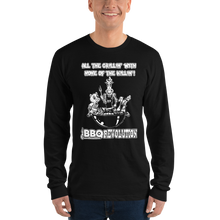 Load image into Gallery viewer, All the Grillin' None the Killin'! Long sleeve t-shirt