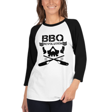 Load image into Gallery viewer, BBQ Club 3/4 Sleeve Raglan Shirt