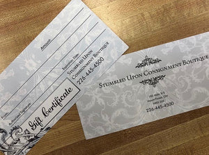Stumbled Upon Gift Certificate