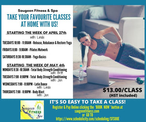 Saugeen Fitness & Spa - Online Yoga and Fitness Classes