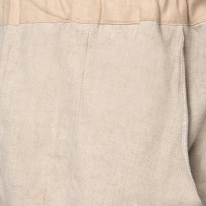 Beige Cream Block Trousers