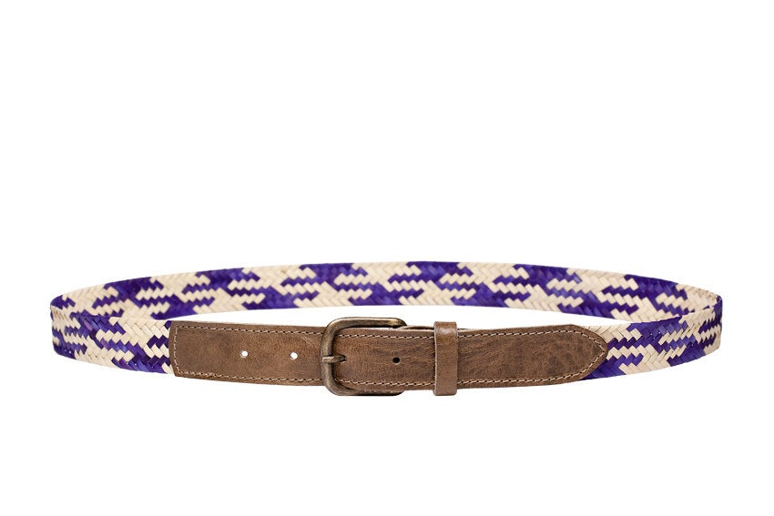 Handwoven Purple Cream Mix Belt /HANDWOVEN BELT / Unisex / Handwoven / Available in 3 sizes