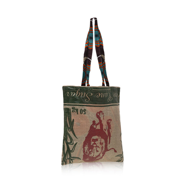 Tote Bag / Brown Spider Wax Print Lining / Recycled Ankara TOTE BAG / Made in Uganda / Upcyled / Limited Edition