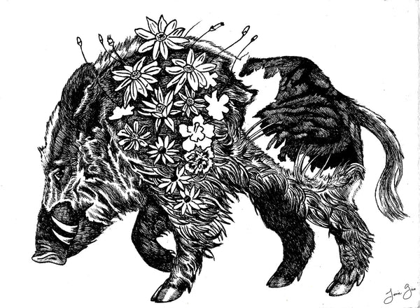APA Zodiac: Earth Boar, Limited Edition Print