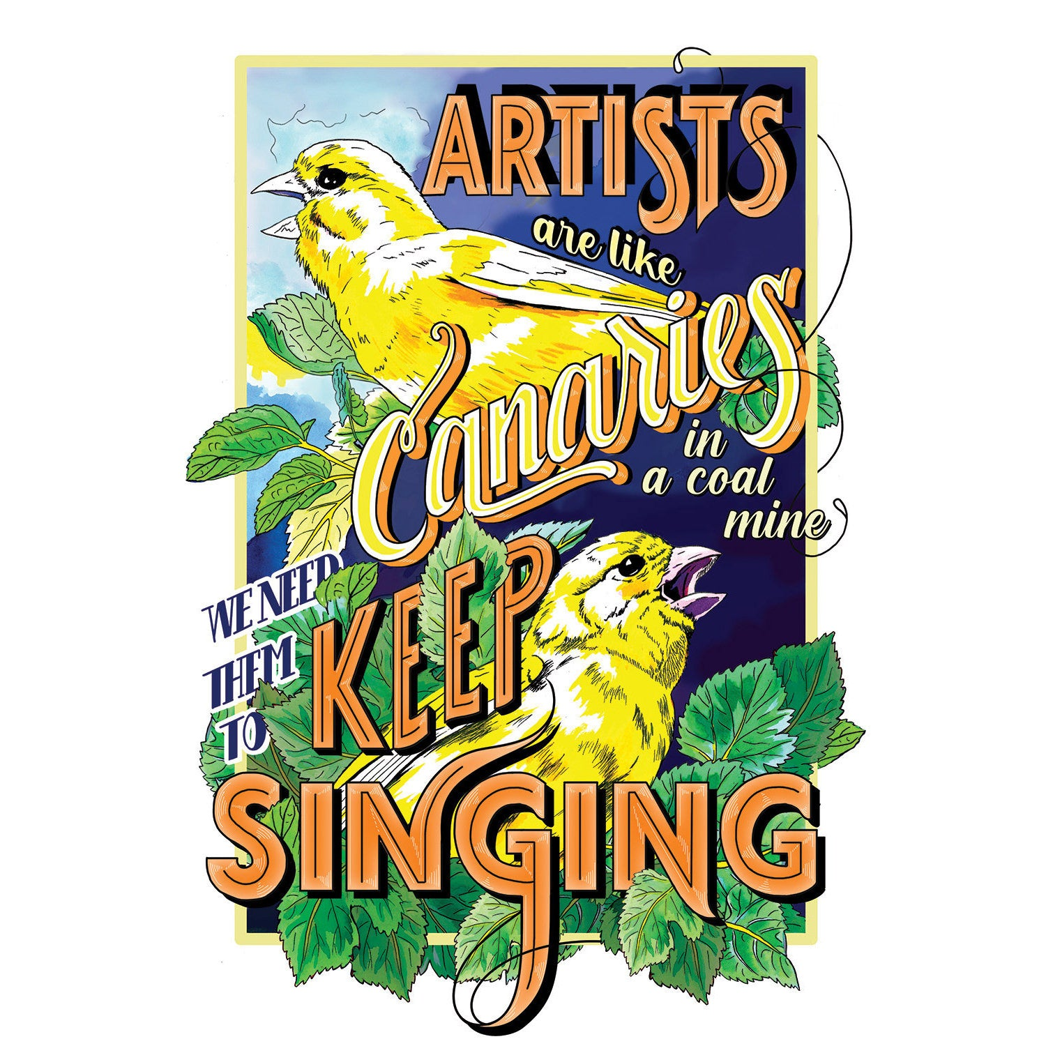 """Keep Singing,"" Signed Limited Edition Print"