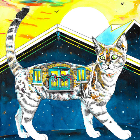 """Housecats: Catwalk,"" Signed Limited Edition Print"