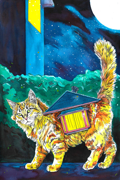 """Housecats: Oriel,"" Signed Limited Edition Print"