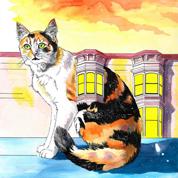 """Housecats: Fenestella,"" Signed Limited Edition Print"