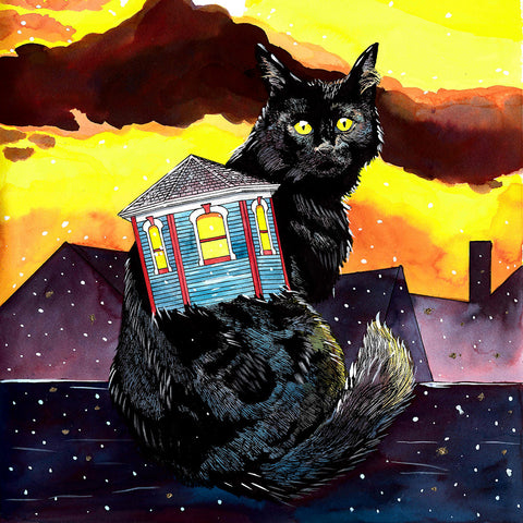 """Housecats: Turret,"" Signed Limited Edition Print"