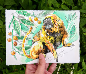 APA Zodiac: Golden Metal Monkey, Limited Edition Print