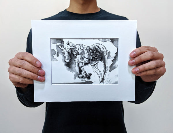 Asian American Zodiac: Fire Horse, Limited Edition Print