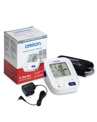OMRON 5 Series® Upper Arm Blood Pressure Monitor (BP7200) with AC Adapter