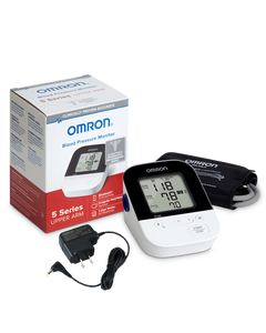 Omron 5 Series BP Monitor with IntelliSense with AC adapter (BV-7250AC-KIT)