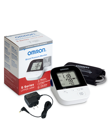 OMRON 5 Series® Wireless Upper Arm Blood Pressure Monitor (BP7250) with AC Adapter