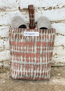 terracotta shoe bag