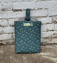 Load image into Gallery viewer, Teal Tile Shoe Bag - 1008S