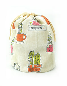 Succulents CinchedUP Bucket Bag