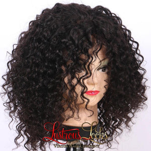 13x6 Lace Frontal Curly Bob Wig - Lustrous Locks Hair Co.