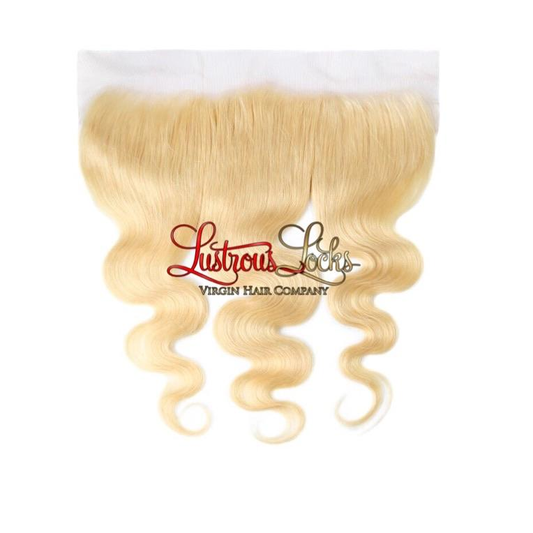Blonde Bombshell Luxe Wave Lace Frontal - Lustrous Locks Hair Co.