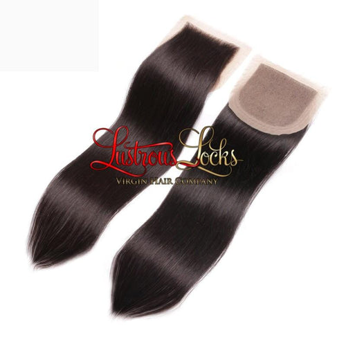 Silky Straight Lace Closure - Lustrous Locks Hair Co.
