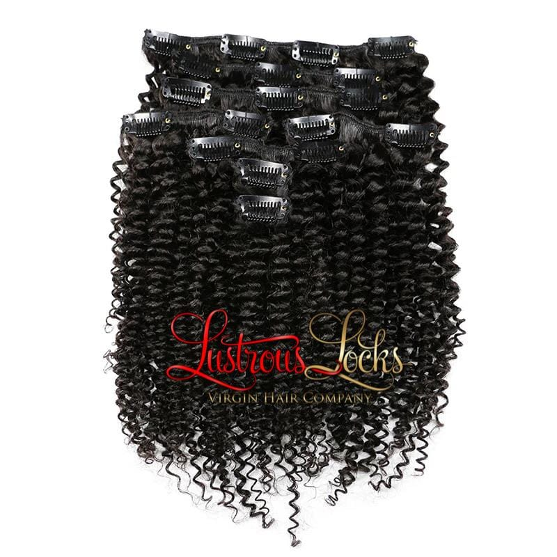 Kinky Curly Clip Ins - Lustrous Locks Hair Co.