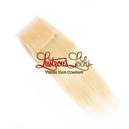 Blonde Bombshell Silky Straight Lace Closure - Lustrous Locks Hair Co.