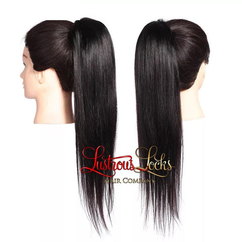 Silky Straight Draw String Ponytail
