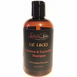 LiL' Locks Coconut & Cucumber Shampoo - Lustrous Locks Hair Co.