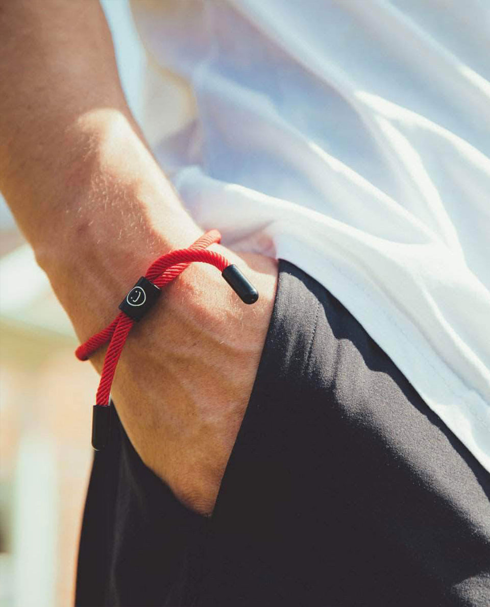 Good Times New School Bracelet (Red/Black) - Papilyo