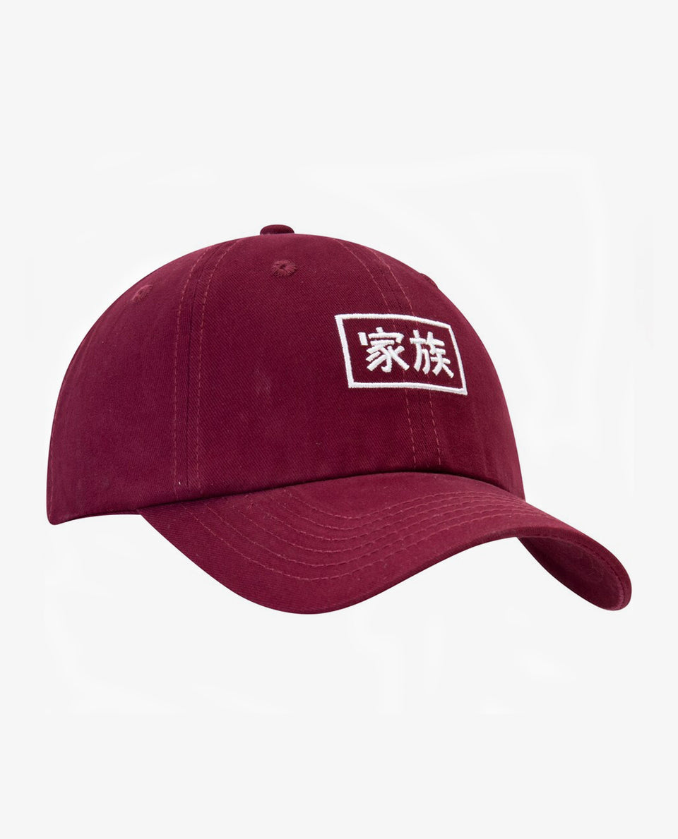 Kazoku Dad Hat Burgundy