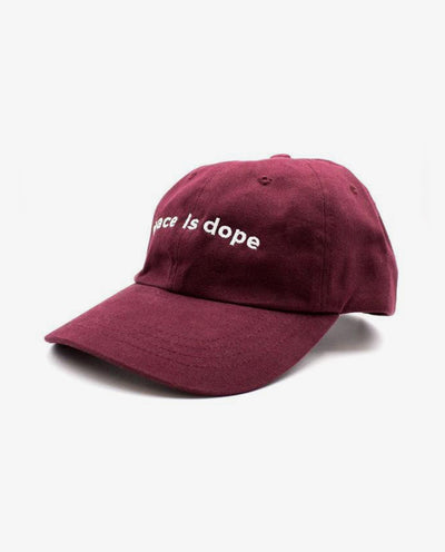Peace is dope Dad Hat Burgundy - Papilyo
