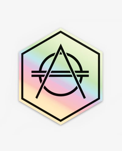 Hexagon Sticker Holographique - Papilyo